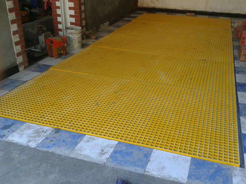 洗车场玻璃钢格栅工程案例